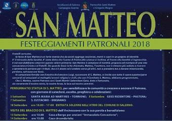 Calendario Particolare.Programma Festeggiamenti Patronali San Matteo 2018